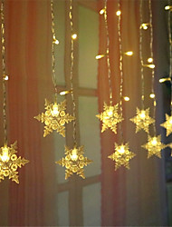 cheap -Snowflak LED String Light 1X 3.5M 96Leds Colorful Snowflake LED Fairy String Light Flashing Lighting Curtain Fairy Light IP65 Waterproof Outdoor Holiday Party Connectable Wave Flexible Lights AC220V 230V 240V EU Plug