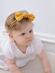 cheap -1pcs Baby Girls' Sweet Daily Wear Solid Colored Bow Nylon Hair Accessories Blue / Purple / Blushing Pink Kid onesize