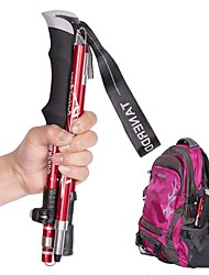 cheap -Adjust 5-section Trekking Pole Aluminum Alloy Foldable Ultra-light Telescopic Outdoor Hand-carrying Hiking Sticks Walking Stick