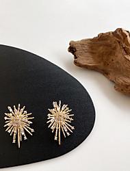 cheap -south korea's dongdaemun purchasing the same earrings female exquisite crystal zircon firework earrings super fairy temperament wild earring