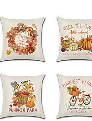 cheap -Fall Double Side Cushion Cover 1PC Soft Decorative Throw Pillow Cover Cushion Case Pillowcase for Bedroom Livingroom Superior Quality Machine Washablefor Sofa Couch Bed Chair Pumpkin Fall