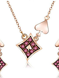 cheap -Women's Red Synthetic Diamond Jewelry Set Earrings Jewelry Gold For Street Gift Festival