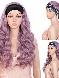 cheap -Headband Synthetic Wig 25 Long Wavy Wig Machine Made Glueless Headband Wig for Black Women (25 Inch QTASHPU)no colored headband