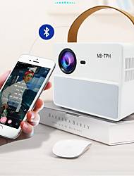 cheap -Factory Outlet M8-TPH LED Projector Manual Focus Video Projector for Home Theater Sync Smartphone Screen 1080P (1920x1080) 3900 lm Compatible with TV Stick HDMI USB
