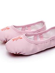cheap -Girls' Ballet Shoes Flat Pattern / Print Flat Heel Flesh-colored Blushing Pink Elastic Band