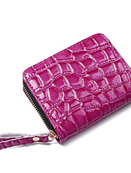 cheap -Women's Bags PU Leather Coin Purse Zipper Solid Color Daily Outdoor Sequins 2021 Blue Blushing Pink Orange Black