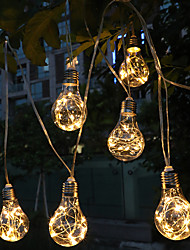 cheap -Copper Wire Bulb String Lights 4M 10LEDs Fairy Light Battery Operation Garden Holiday Outdoor Home Decoration