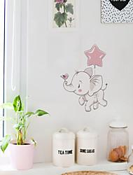 cheap -Children's Room Cartoon Self-adhesive Wall Stickers Baby Elephant Pattern Bedroom Waterproof Cute Stickers