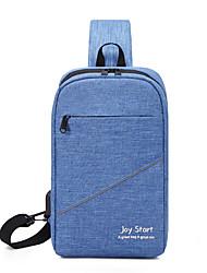 cheap -Men's Unisex Bags Oxford Cloth Sling Shoulder Bag Zipper Daily Outdoor 2021 Bum Bag Blue Purple Gray Black
