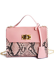 cheap -Women's Girls' Bags PU Leather Mobile Phone Bag Buttons Embossed Color Block Fashion Daily Holiday Retro Handbags Chain Bag Blushing Pink White Black Red