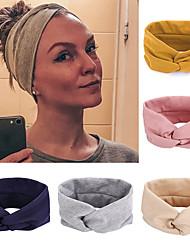 cheap -5 Pcs/set Autumn Cotton Cross Hair Band Fashion Solid Hair Band Ladies Yoga Sports Elastic Headband Women Hair Accessories
