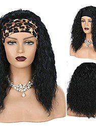 cheap -Body Wave Headband Wigs for Black Women 24 inch 180% Density Headband Wig Synthetic Long Black Wavy Glueless Wig with Headband Attached Natural Looking for Daily Party Wear(no Colored Headband)