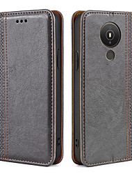 cheap -Phone Case For Nokia Full Body Case Leather Magnetic Adsorption Nokia 8 Nokia 7.1 Nokia 6 Nokia 5.1 Nokia 4.2 Nokia 3 Nokia 3.1 Nokia 3.2 Nokia 2 Nokia 1.3 Shockproof Dustproof Tile Solid Colored PU