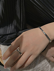 cheap -south korea korean version of s925 sterling silver faceted design simple opening cold wind ring ring ring tail ring stacked dai guochao