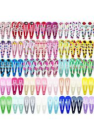 cheap -100 Pieces / Lot Korean Style Girls Hair Accessories Cartoon Hair Clip Candy Color Flower Hair Clip Barrette Cute Hair Clip For Children