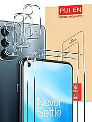 cheap -for oneplus nord n200 5g screen protector (2 packs) with 3 packs camera lens protector,hd clear scratch resistant bubble free anti-fingerprints 9h hardness tempered glass