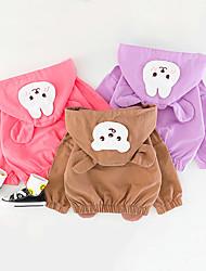 cheap -1pc Baby Girls' Jacket & Coat Casual Daily Daily Wear Cotton Purple Blushing Pink khaki Bear Rabbit Long Sleeve / 6 Month+