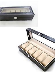 cheap -Storage Organization Storage Box Mixed Material Rectangle Shape Flip-open Cover 30*11*8cm