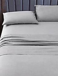 cheap -Bamboo fiber bed sheet set cool feeling soft mat sleeping sheet naked sleeping silk satin bed sheet pillow case three piece set for two