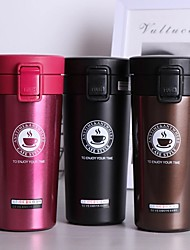 cheap -380ml Double Stainless Steel 304 Coffee Mug Leak-Proof Simple Modern Insulated Thermos Mug Travel Thermal Cup Water Bottle For Gifts
