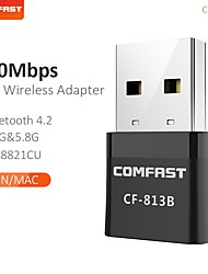 cheap -Black Mini USB Wi-Fi Adapter 650Mbps For PC USB Ethernet WiFi Dongle 2.4G 5.8G Wireless Wifi Network Card Antena Wi Fi Receiver