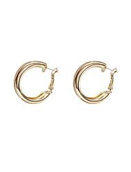cheap -s925 silver needle european and american minimalist personality big earrings metallic mirror earrings trendy temperament simple earrings d934