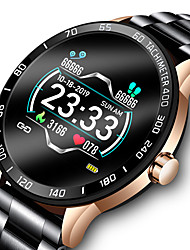 cheap -LIGE LG0109 Smartwatch Fitness Running Watch Bluetooth 1.3 inch Screen IP 67 Waterproof Touch Screen Heart Rate Monitor Pedometer Call Reminder Activity Tracker 45mm Watch Case for Android iOS