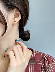 cheap -s925 silver needle korea cute asymmetric airplane cloud small earrings female 2021 new fashion earrings f184