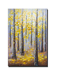 cheap -Oil Painting Handmade Hand Painted Wall Art Classic Woods Abstract wall Art Home Decoration Decor Stretched Frame Ready to Hang
