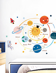 cheap -Cartoon Hand-Painted Solar System Kindergarten Children'S Room Study Decoration Decoration Wall Stickers Can Be Removed 60*90cm