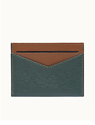 cheap -Mini ultra-thin leather simple business compact credit pocket card holder wallet for women