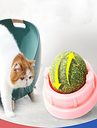 cheap -Rotating Toy Cat 1pc Round Pet Friendly Catnip Gift Pet Toy Pet Play