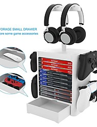 cheap -Games Storage Tower(10 Games) for PS5 Game Disk Rack Controller/Headset Stand Holder Compatible for Switch/PS4/Xbox