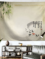 cheap -Chinese Style Wall Tapestry Art Decor Blanket Curtain Hanging Home Bedroom Living Room Decoration Polyester Willow