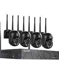 cheap -ESCAM WNK614 H.25 Wireless 3MP Camera Ball Component 8 Channels NVR Channel HD Camera Dual Light Source 4 Voice