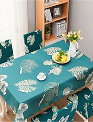 cheap -Tablecloth Waterproof Scald-proof Oil-proof and Wash-free Fabric Disposable Cotton and Linen Tablecloth for Coffee Table for Outdoor and Indoor Use