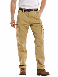 cheap -Men's Work Pants Hiking Cargo Pants Tactical Pants 8 Pockets Drawstring Military Solid Color Winter Outdoor Regular Fit Ripstop Anatomic Design Front Zipper Multi Pockets Cotton Pants / Trousers