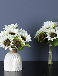 cheap -38cm Imitation Flower Sunflower New 9 - Head Bouquet Sunflower Artificial Flower Bridal Photographer Holding The Imitation Bouquet