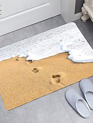 cheap -Wave Beach Series Digital Printing Floor Mat Modern Bath Mats Nonwoven / Memory Foam Novelty Bathroom