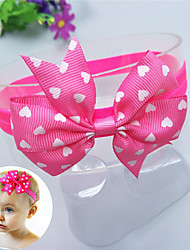 cheap -1pcs Baby Unisex Sweet Daily Wear Heart / Solid Colored Bow Nylon / Polyester Hair Accessories Blue / Purple / Yellow Kid onesize