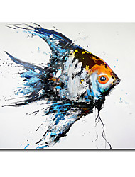 cheap -Wall Art Canvas Prints Painting Artwork Picture Modern FishPoster Sea View Home Decoration Decor Rolled Canvas No Frame Unframed Unstretched