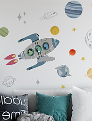 cheap -Abstract Wall Stickers Bedroom / Living Room Removable PVC Home Decoration Wall Decal 1pc 60*90CM