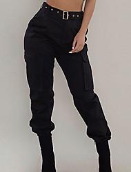 cheap -Women's Work Pants Hiking Cargo Pants Jogger Pants Streetwear Fashion Outdoor Windproof Ripstop Quick Dry Lightweight Pants / Trousers Bottoms ArmyGreen Black Red Fishing Climbing Running S-2XL