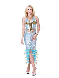 cheap -Aqua Queen Aqua Princess Mermaid Cosplay Costume Party Costume Women's Movie Cosplay Light Blue Dress Halloween Carnival Masquerade Polyester