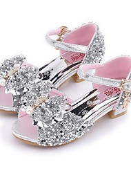 cheap -Girls' Princess Shoes Sandals Mary Jane Flower Shoes Comfort Synthetics Little Kids(4-7ys) Daily Rhinestone Pink Silver Summer