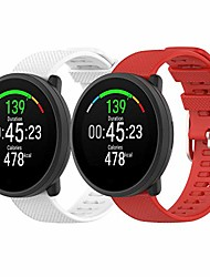 cheap -fit for polar unite watch bands women men, polar ignite 20mm silicone replacement band wristband straps metal clasp fit for samsung galaxy watch active 2 40mm 44mm, garmin venu sq (white red)