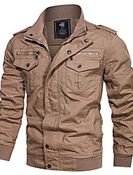 cheap -military jacket men spring autumn cotton windbreaker pilot coat army men's bomber jackets cargo flight jacket khaki 5xl