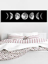 cheap -Wall Art Canvas Prints Painting Artwork Picture Moon Phase Black White Woman Home Decoration Décor Rolled Canvas No Frame Unframed Unstretched