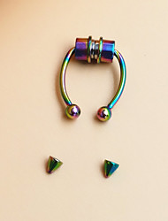 cheap -Nose Piercing Casual / Sporty Hip-Hop Oversized Women's Body Jewelry For Street Prom Stainless Steel + A Grade ABS Rainbow