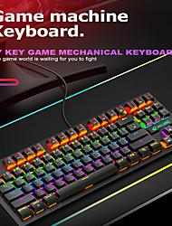 cheap -Free Wolf K2 Mechanical Keyboard And Mouse Set Game Esports Computer 87 Key Luminescent Key Mouse Set